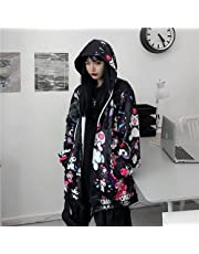 NFBZ Kuro-mi Anime capuchontrui voor dames, hoodie met print, sweatshirt met capuchon en ritssluiting