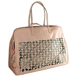 Chrome Bones Noir Handbag/Dog Carrier, Pink
