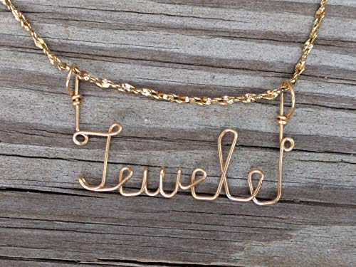Hand Scripted 14K Gold Filled Personalized Name Necklace Jewele or Jewel