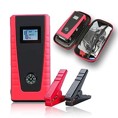 Indigi Emergency Mobile Vehicle Jump Starter + SOS Lights + USB Outlets for Laptop & SmartPhone Travel Charging Kits