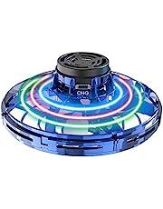 Abree Vliegend speelgoed voor volwassenen en kinderen USB opladen handbediende mini UFO drone spinner met 360 graden draaibare en stralende RGB-led-verlichting