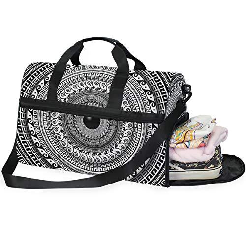 MALPLENA UK Travel Duffel Bag Weekender Bag with Shoes Compartment for Men Women