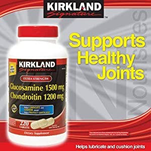upc 096619262434 product image for Kirkland Signature Extra Strength Glucosamine 1500mg/Chondroitin 1200mg, 220 Count (2 Pack) | barcodespider.com