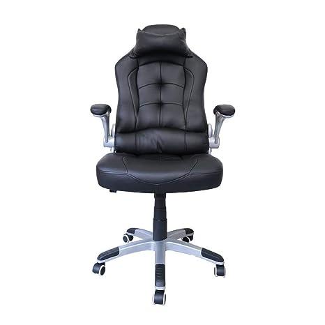 HG Executive Chair Racing Chair Silla De Oficina Comfort Swivel Chair Pu Negro Con 79 Cm
