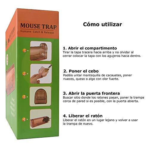 automatisch M/äuse mit K/öder 2 St/ück FoxStyle Products Mausefalle f/ür lebendige M/äuse Braun Maus-Trap einfach zu bedienen Mehrfachbedienung menschlich kein Tod