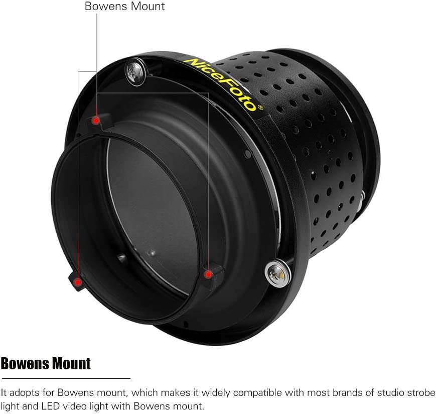 NiceFoto NiceFoto SN-04 55/°Reflector Diffuser for Bowens Mount Studio Strobe Flash Light Speedlite