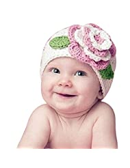Changeshopping(TM)Cute Big Flower Baby Kids Infant Toddler Girl Warm Beanie Knit Hat Cap