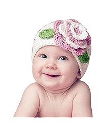 Changeshopping Cute Big Flower Baby Kids Infant Toddler Warm Beanie Knit Hat Cap