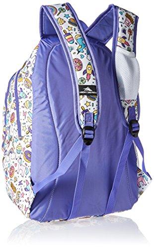 High Sierra Curve Backpack, Sweet Cakes/Lavender by High Sierra (Image #2)