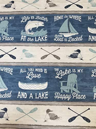 Lake House Canoe Relaxing Nautical Beach Valance ()