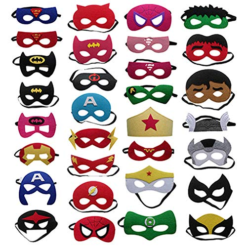 LH&BD Halloween Masks for Kids - 20 Pcs Masks, Great for Halloween Themed Parties and Novelty Costume Dress-Up,20pcs]()