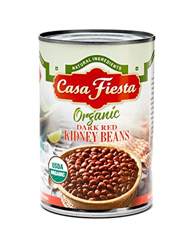 Casa Fiesta Organic Dark Red Kidney Beans 15oz 12 pack by Casa Fiesta