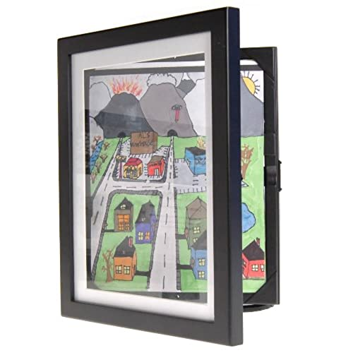 Art frames amazon child artwork frame display cabinet frames and stores your childs masterpieces 85 x 11 black solutioingenieria Gallery
