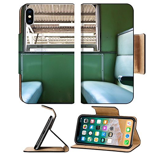 Luxlady Premium Apple iPhone X Flip Pu Leather Wallet Case IMAGE ID 26078015 inside train and chair vintage stlye