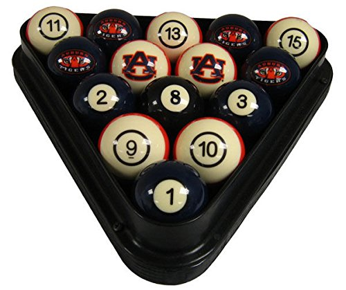 Wave 7 Technologies Auburn Tigers Billiard Ball Set - NUMBERED by wave