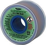 "MG Chemicals Desoldering Braid #3 Fine Braid Super Wick with RMA Flux, 50' Length x 0.075"" Width, Green"