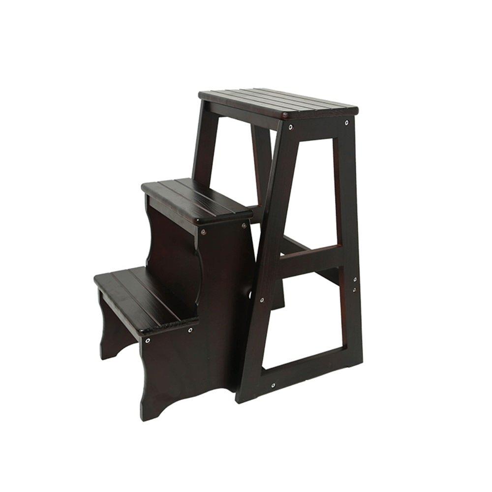 木製ステップはしご折りたたみスツール ソリッドウッドラダースツール多機能スツールチェンジシューズ3段の折りたたみチェア (色 : #2) B07P45S8D7 #2