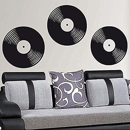 Ideavinilo Vinilo Decorativo De Tres Discos Color Negro