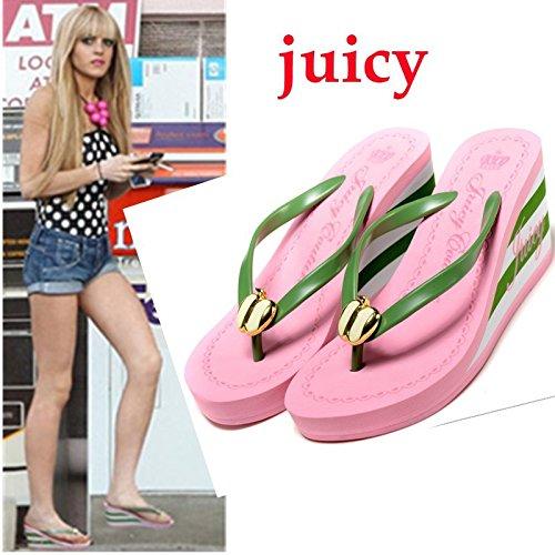 Flop Talons De Rose Plage Platform Ladies Minetom Summer Chaussures À Flip Wedge Hauts Toe Sandales Marche OgYq1wv1