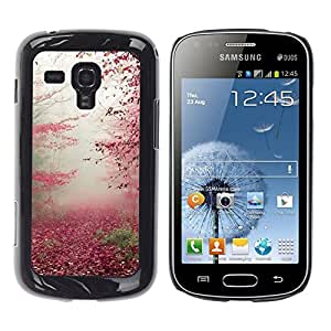 Be Good Phone Accessory // Dura Cáscara cubierta Protectora Caso Carcasa Funda de Protección para Samsung Galaxy S Duos S7562 // Autumn Leaves Red Fall Nature Trees Forest