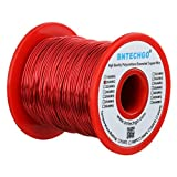 BNTECHGO 20 AWG Magnet Wire - Enameled Copper Wire - Enameled Magnet Winding Wire - 16 oz - 0.0315'' Diameter 1 Spool Coil Red Temperature Rating 155 degrees C Widely Used for Transformers Inductors
