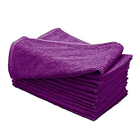Huini - Toallas de microfibra para secado de pelo, 12 unidades, color morado: Amazon.es: Belleza