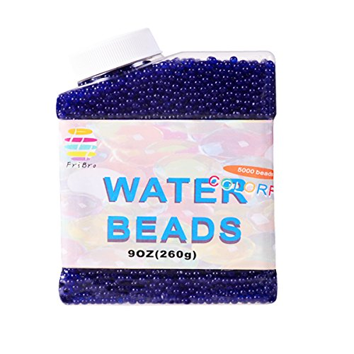 Fribro Water Beads,5000 Pcs,Water Gel Beads Pearls for Vase Filler, Swimming Pool, Home Decoration, Plants, Toys. (Blue) by Fribro