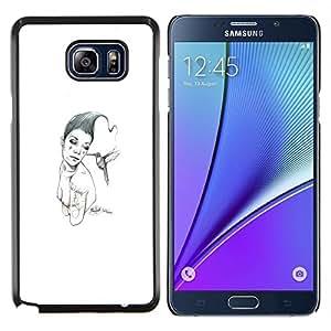 EJOOY---Cubierta de la caja de protección para la piel dura ** Samsung Galaxy Note 5 5th N9200 ** --Pink & Bird