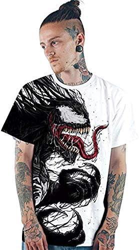 WULAU Herren T-Shirt und M/änner Tshirt Unisex 3D T-Shirts L/ässige Herren Marvel Heroes Venom//Spider-Man Bedruckte Kurzarm-T-Shirts Top Tees S-3XL