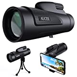 Photo : AUCEE 12X50 High Power Prism Monocular Telescope, Waterproof Fogproof Shockproof Scope -BAK4 FMC Prism with Smartphone Adapter and Tripod for Steady Bird Watching Hunting Camping Travelling Scenery