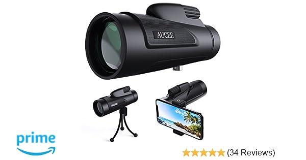 Amazon.com : 12x50 monocular telescope for adults aucee hd high