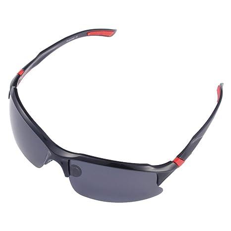 Occhiali da ciclismo polarizzati da uomo, occhiali da sole sportivi con protezione UV 400, per attività all'aperto, codice prodotto: STS014, Black & Yellow