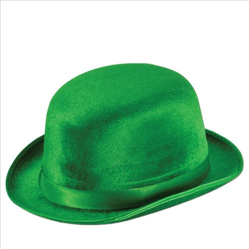 Green Vel-Felt Derby Party Accessory (1 count) -