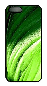 iPhone 5 5S Case Green drip Colorful PC Custom iPhone 5 5S Case Cover Black