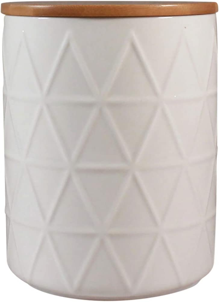 Extra Large Storage Jar by CIROA | White Ceramic Canister 7.5 Cup 2 Quart for Food, Coffee, Sugar and Rice