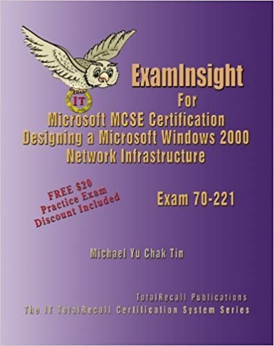 ExamInsight For MCP / MCSE Certification: Microsoft Windows 2000 Network Infrastructure Exam 70-221 by Yu Chak Tin, Michael (2005)