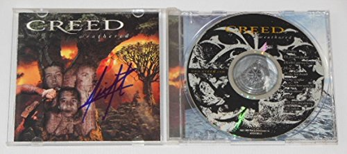 Creed Weathered Scott Stapp Hand Signed Autographed Music Cd Compact Disc Loa
