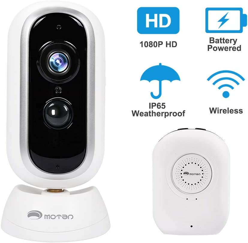Wireless Security Camera Outdoor,1080P Hd System Camera, Battery Powered Wire-Free WiFi, Home Security System Camera, with Motion Detection, Two-Way Audio Night Vision and Micro Sd Card Slot