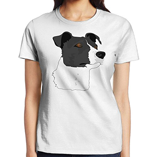 Price comparison product image Border Collie Dog Head Women's Short Sleeve T-Shirt Casual Performance Top