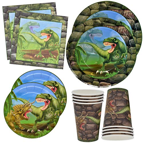 Dinosaur Plates and Napkins for 24 Guests for Birthday Party Supplies 24 9