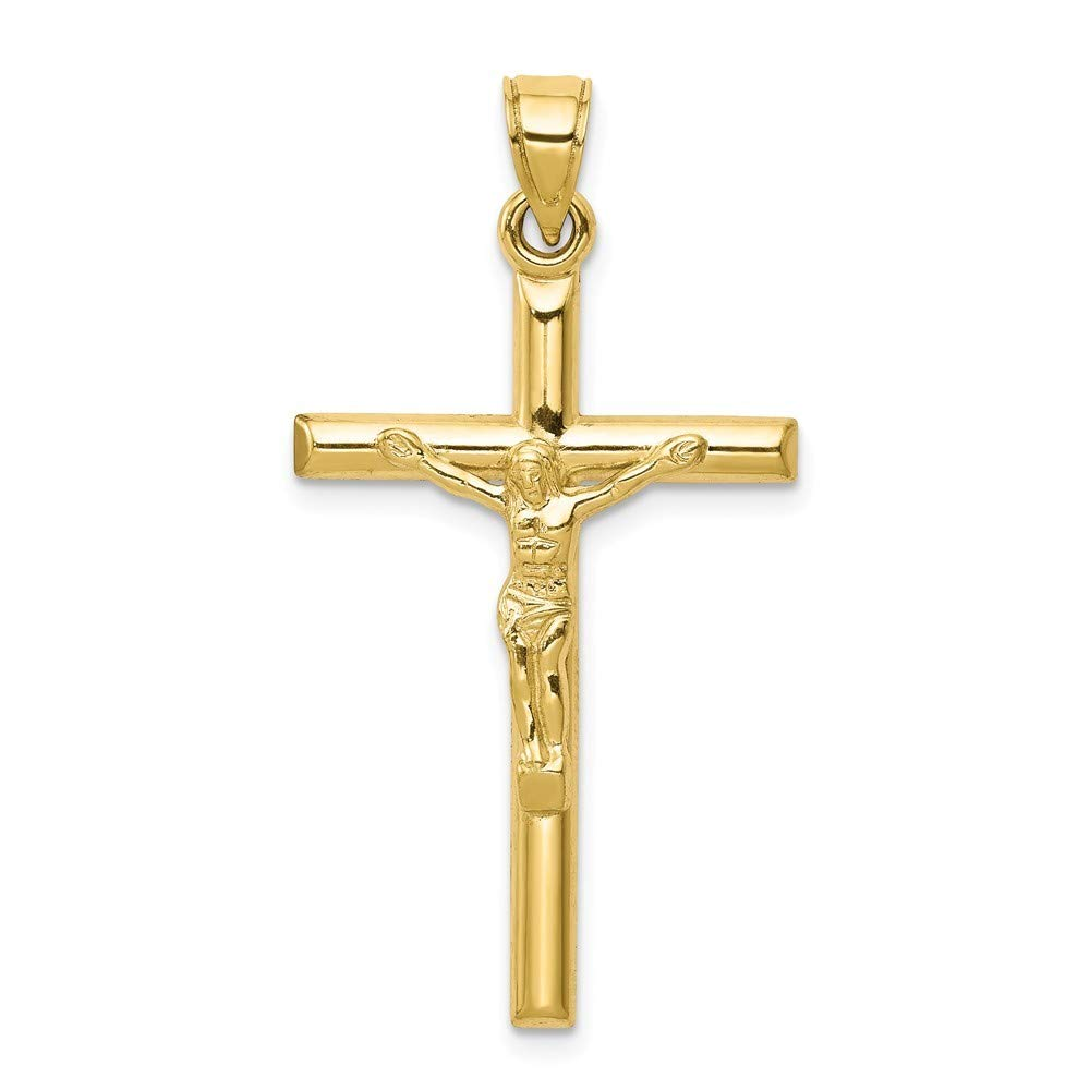 10K Yellow Gold Hollow Crucifix Pendant from Roy Rose Jewelry