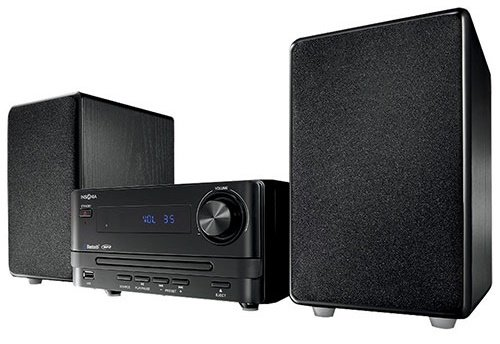 Insignia - 50W Bluetooth CD Compact Shelf System - Black
