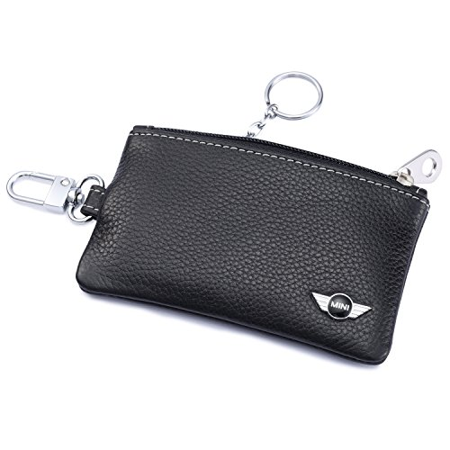 Holder Remote Cover Fob with 1 Metal Keychain - Genuine Leather ()