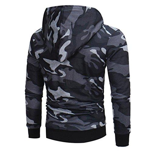 manadlian Veste Homme,Sweats à Capuche Hommes Camouflage Hoodie Sweat à Capuche Tops Veste Manteau Outwear À Manches… 4