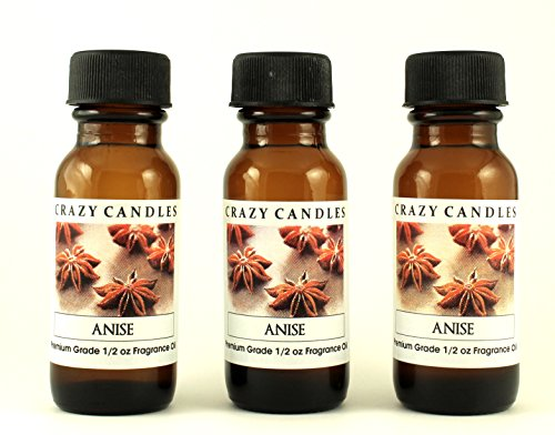 Anise 3 Bottles 1/2 Fl Oz Each (15ml) Premium Grade Scented Fragrance Oil By Crazy Candles (Holiday Pizzelles and Black Licorice Aroma)]()