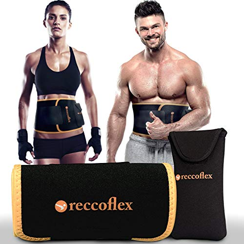 Waist Trimmer Sweat Belt | Waist Shaper Band Trainer for Men and Women| Stomach Wraps for Weight Loss and Belly Fat Burner Abs with Removable Phone Pocket Bonus| Loose Weight Sauna Belt for Workouts