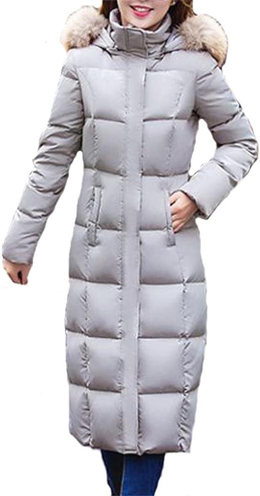 Queenshiny® Damen Lange Daunenjacke Mantel Jacke mit Kapuze Winter