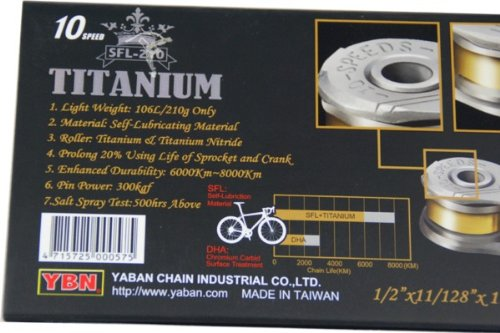 YBN Titanium Chain for Shimano Sram Campagnolo 10 SPEED by YBN (Image #2)