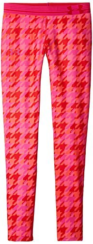 Under Armour Girls' HeatGear Armour Printed Legging, Pomegranate , Youth X-Small