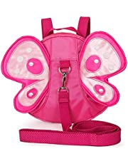 (Pink) - Baby Safety Anti-lost Backpack, Haneye Child Toddler Walking Safety Harnesses Butterfly Backpack with Leash (Pink)